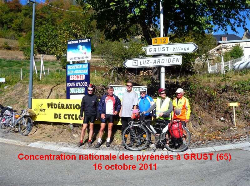 Concentration nationale des Pyrénées à GRUST 16 octobre 2011