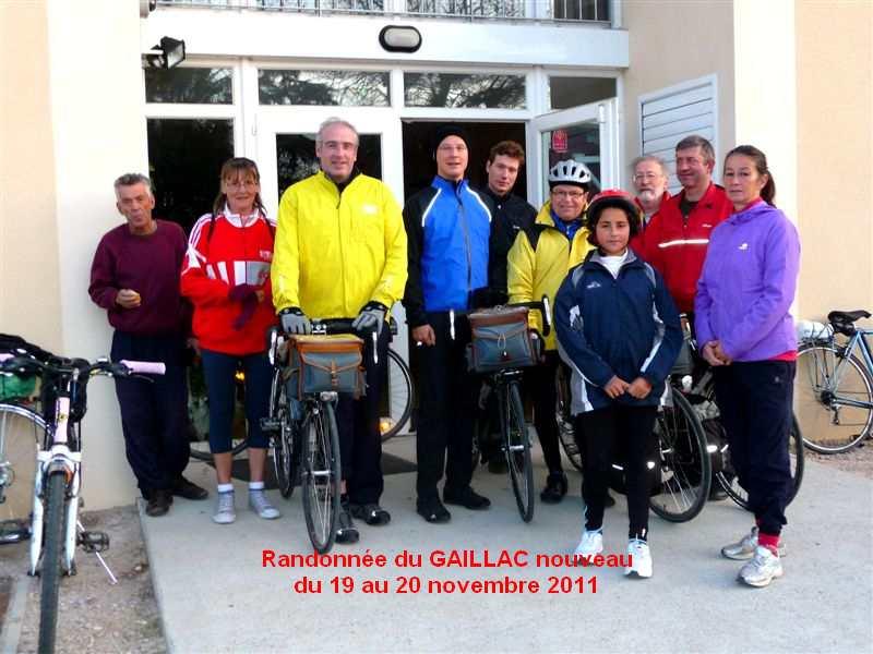 Randonnée du GAILLAC primeur du 19 au 20 novembre 2011