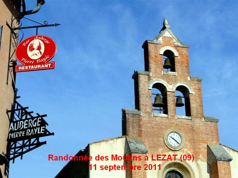 Randonnée des Moulins à LEZAT 11 septembre 2011